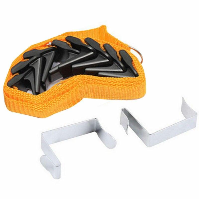 Популярные регулируемые Дверные ремни вешалка для шляп сумка вешалка для одежды, куртки 8 крючков США - Цвет: Оранжевый
