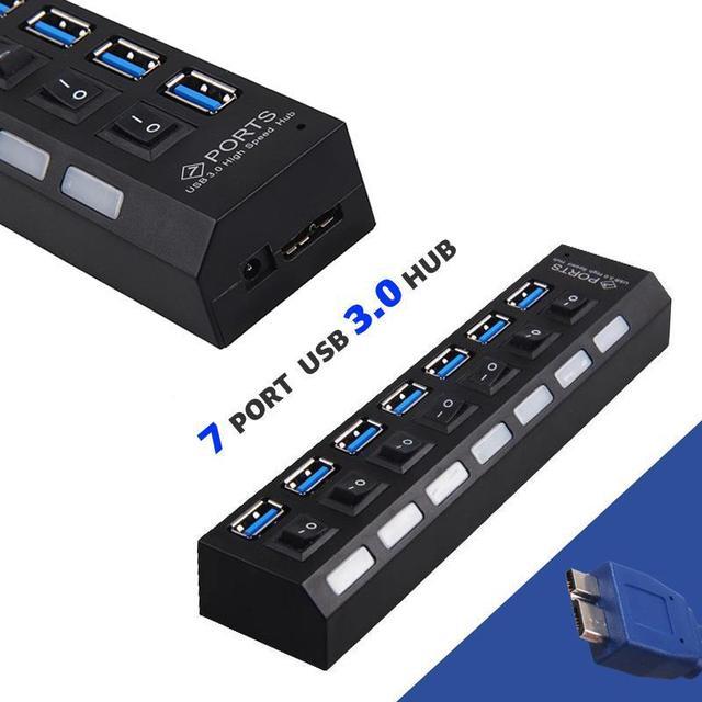 5 unids USB 3.0 hub usb hub 5G 300mbps 7 puertos usb cargador Interruptor Sharing hub adaptador inalámbrico Para El Ordenador Portátil PC Portátil equipo