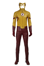 The Flash Season 3 Wally West Kids Flash Cosplay Costume Superhero Halloween Costumes for Adult Men New Flash Suit Custom Made