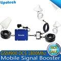 Kit completo de Banda Dupla Sinal de Celular Repetidor 900 1800 Móvel Amplificador de potência GSM DCS Celular Repetidor 3G 4G com LDPA antena