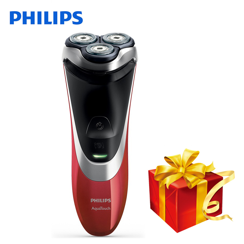 100 Original Philips Professional Electric Shaver AT800 Rotary Rechargeable For Men With Triple Floating Blades Wet