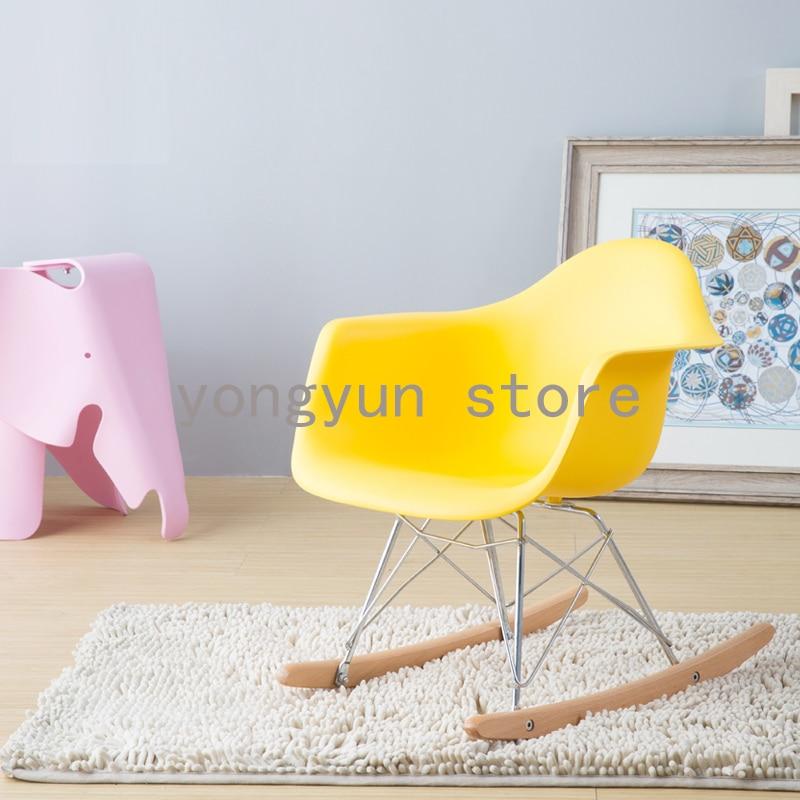 Children Chair Kids Rocking Chair Baby Rocker Leisure Children's Room Plastic Fashion Popular Minimalist Modern Balcony Chairs