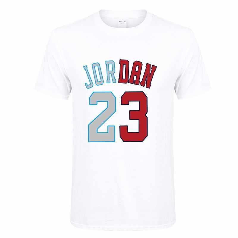 3ce7ba067189 Летняя популярная футболка Jordan 23, Мужская хлопковая футболка с круглым  вырезом и забавным принтом,