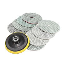 9pcs Wet Dry 4 Inch Diamond Polishing Pads Set With Backer Pad For Granite Concrete Marble