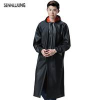 SENNLLJUNG Outdoor Impermeable Man Raincoat Long Style Double Layer Adults Waterproof Trench Coat Poncho Coat Rainwear