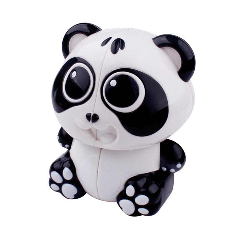 Yuxin Mini Black White Panda 2x2 Keychain Magic Cube Speed Twist Puzzle Toys