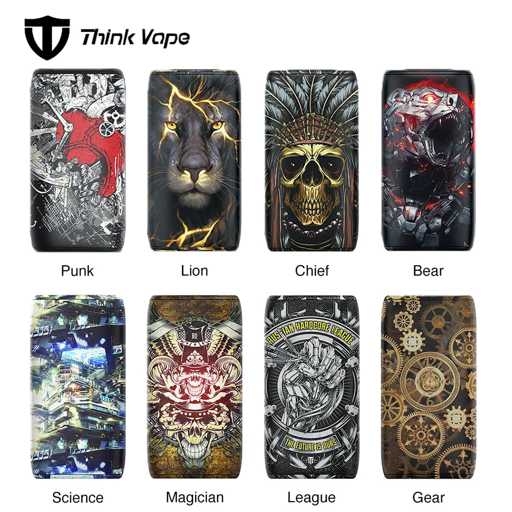 100% Original Think Vape Thor 200W TC Box MOD Vs ThinkVape Thor Pro 220W Mod No 18650 Battery Vape Thor Attractive Patterns