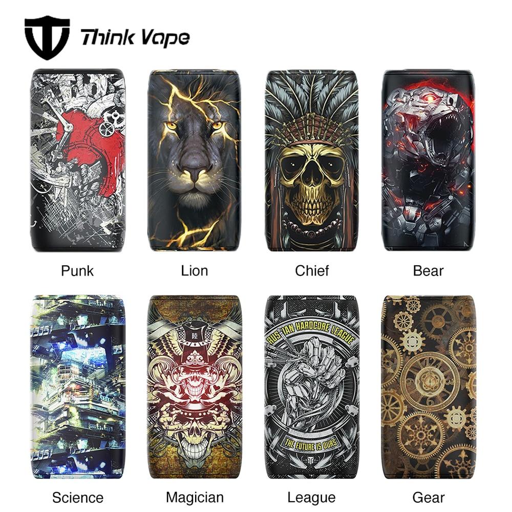 100% Original pensez Vape Thor 200W TC boîte MOD vs ThinkVape Thor Pro 220W Mod No 18650 batterie Vape Thor modèles attrayants