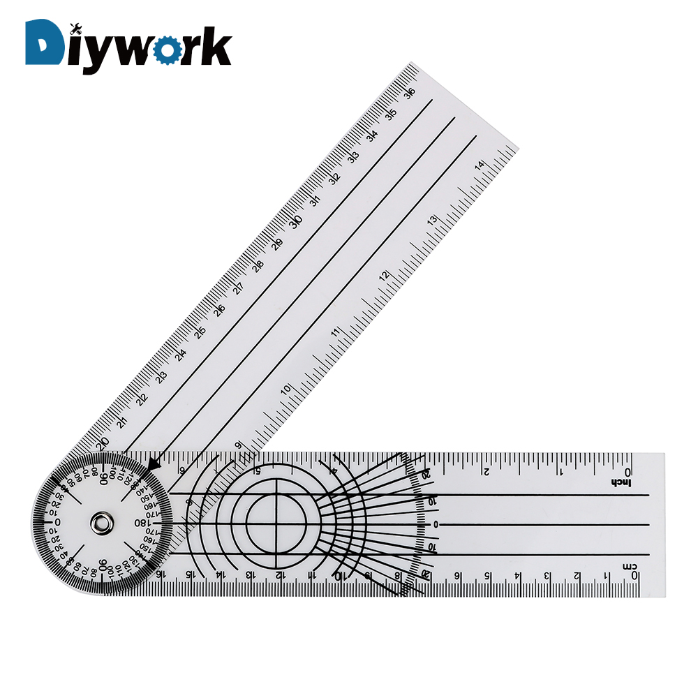 DIYWORK Goniometer Protractors Angle Medical Spinal Ruler Measuring Tool 360 Degree Rotation Multifunction Goniometer