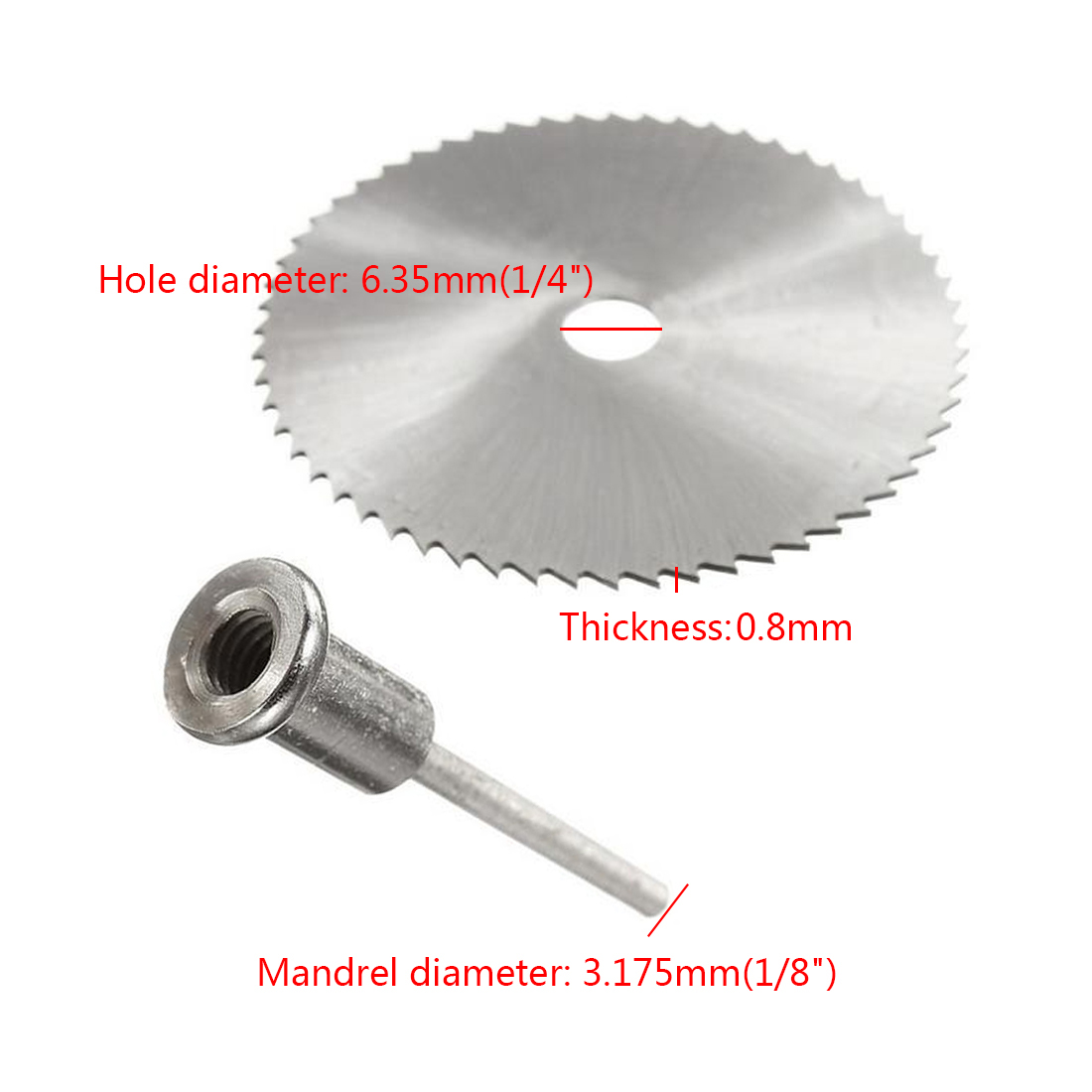 Image 4 - Drill Dremel Accessories HSS 1PC Mini Circular Saw Blades Power Tools Wood Cutting Disc Grinding Wheel Set for Rotary Tools-in Saw Blades from Tools