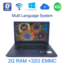 1366X768P FHD Screen 2G ram 32G EMMC windows 10 system 15.6 inch Fast Running laptop built in bluetooth camera for discounts