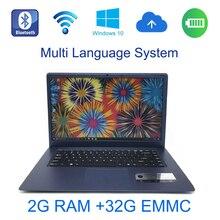 1366×768 P FHD Экран 2 г оперативной памяти 32 г EMMC Windows 10 системы 15.6 дюймов быстрый запуск ноутбука Встроенный Bluetooth Камера для скидки