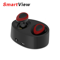 K2 TWS Mini Wireless Earbuds Twins Earphone Bluetooth Portable Headphone With Battery Box Hands Free Headset