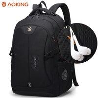 Aoking Brand Laptop Backpack Men Notebook Computer Backpacks Large Capacity 35L Travel School Backpack Black Blue