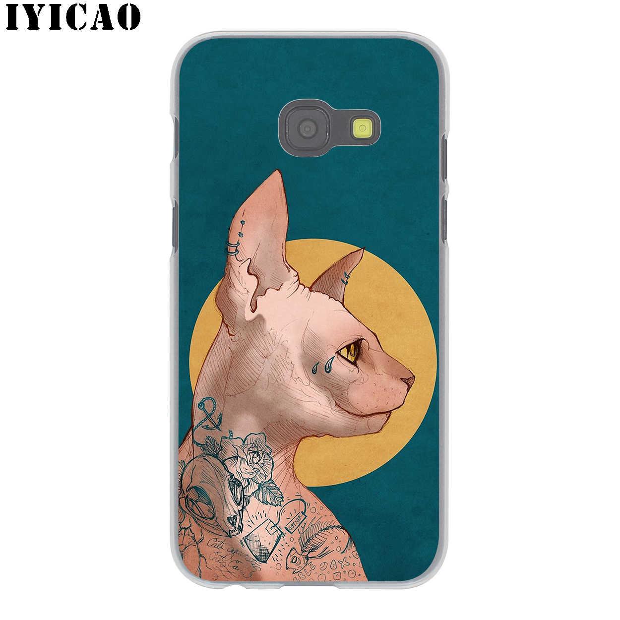 IYICAO Sphinx Chat Dur étui pour samsung Galaxy J6 J5 J1 J2 J3 J7 2017 2016 2015 Premier J7 NOUS J5 L'UE version