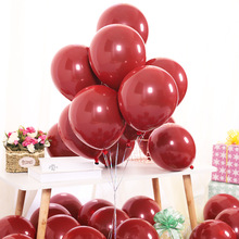 20PCS 10 inch pomegranate red matt double jewel balloon wedding birthday party decoration