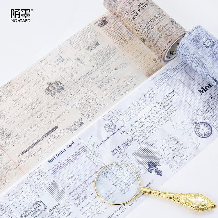 100mm Vintage Era Nostalgic diary note old days memory decoration planner washi Tape DIY Diary scrapbooking masking tape Escolar