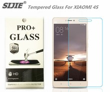 SIJIE Tempered Glass For XIAOMI 4S 2.26mm MI4S MI 4S Screen Protector protective front stronger 9H discount with Retail Package goowiiz розовый mi 4s