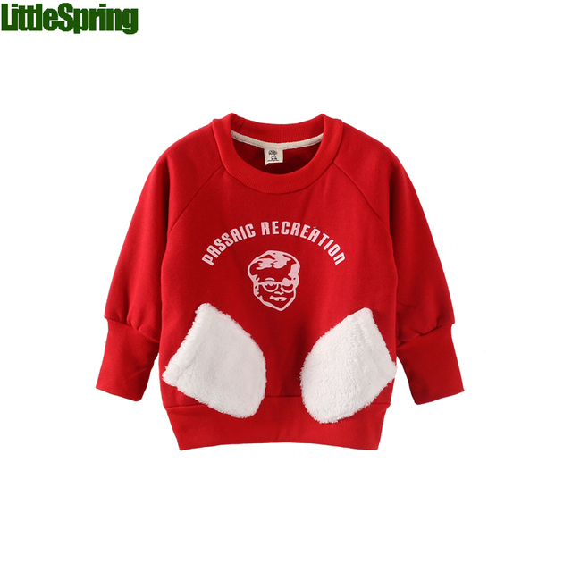LittleSpring Retail ! 1 pcs children's clothing boys girls clothes long-sleeve letter cotton sweatshirt boys clothes