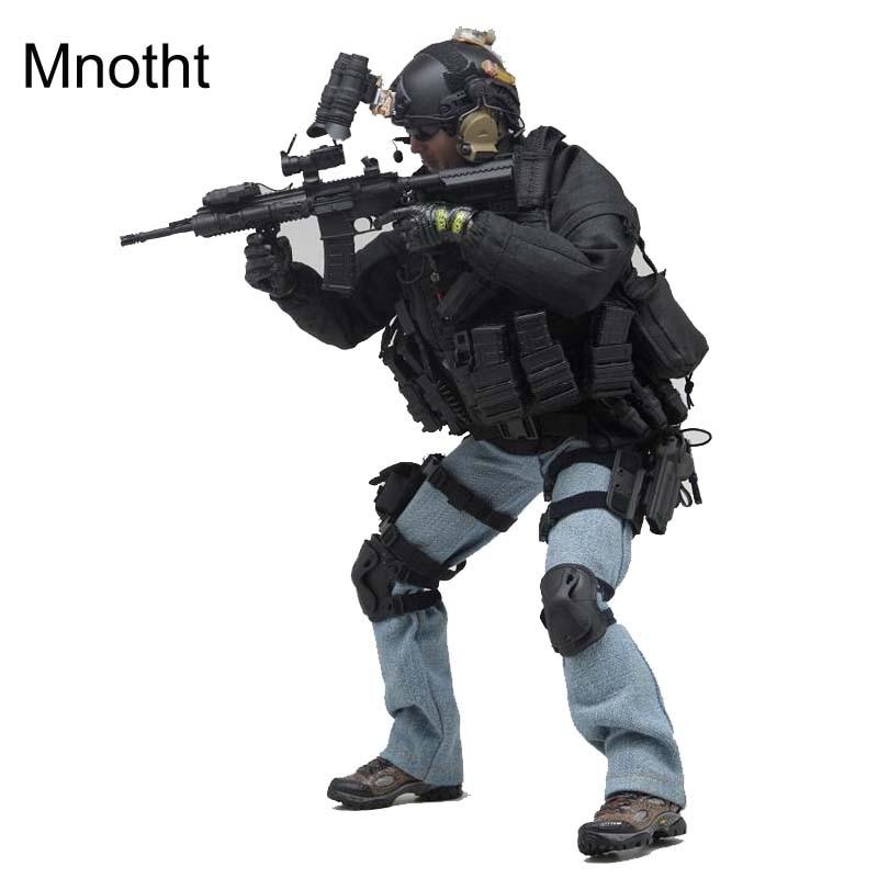 Mnotht 1:6 PMC VH 1030 soldat militaire privé modèle avec casque/pistolet/Jeans/manteau/lunettes/bottes pour figurine 12in jouet l3