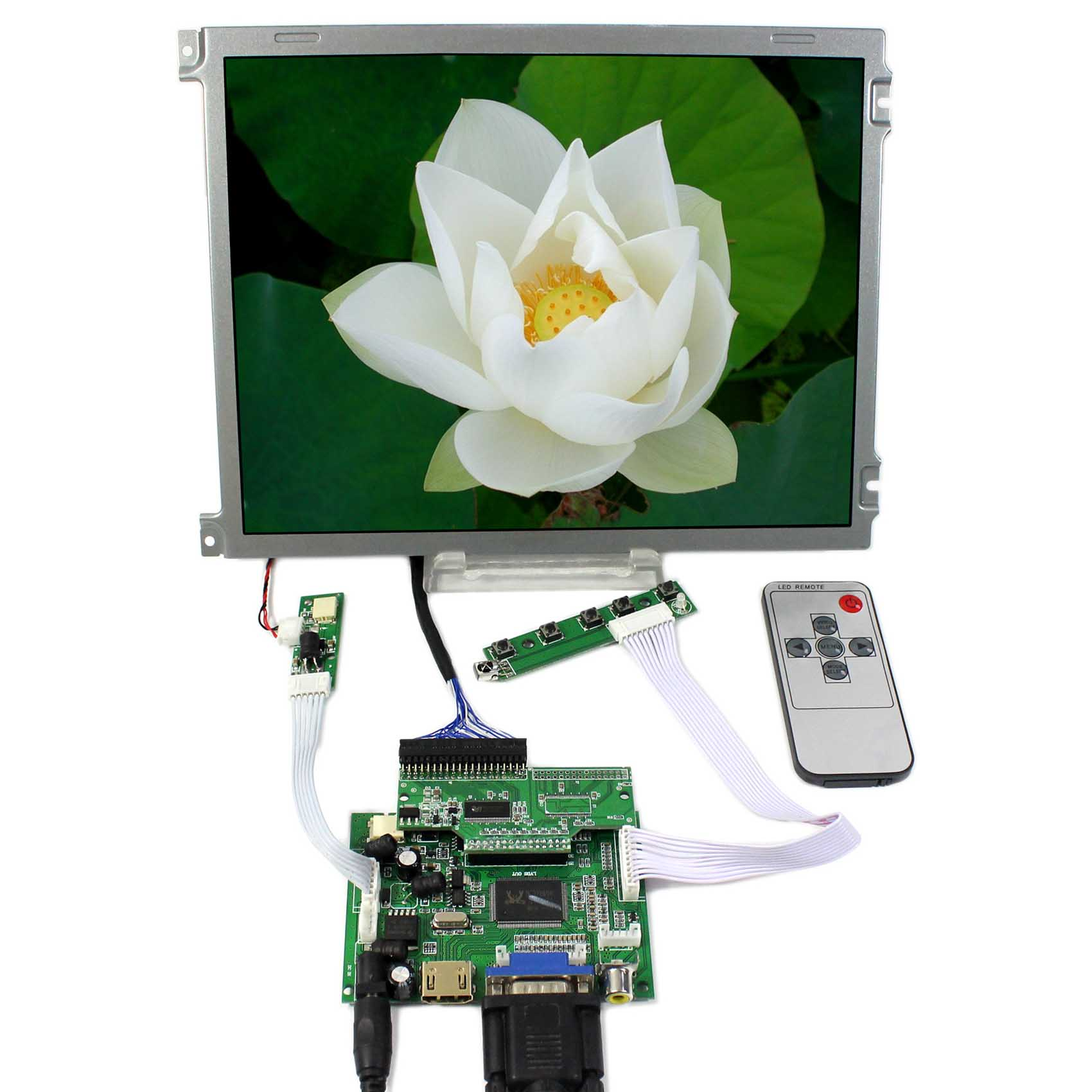 HDMI VGA 2AV LCD Controller Board AA104VH01 640x480 31pins CMOS Connector Backlight WLED 10.4inch LCD Screen vga lcd controller board rt2270c 8 4inch 640x480 aa084vc03 lcd screen
