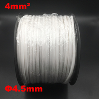 1roll 4mm2 PVC 4.5mm ID White Handwriting Ferrule Printing Machine Number Plum Tube Wire Sleeve Blank Cable Marker