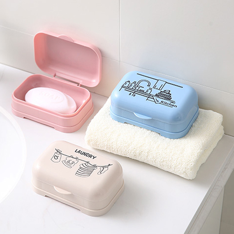 Simple Travell Soap Dish Box Case Holder Easy To Carry Soap Box  13*10cm