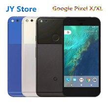 Celular google pixel x/xl desbloqueado, tela de 5.0 polegadas 4g lte 4gb ram 32gb/128gb rom (carregador rápido original)