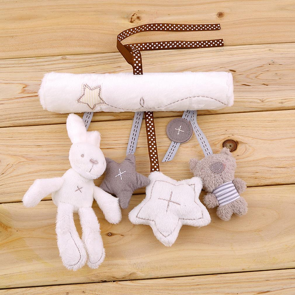 New Kids Baby Soft Cute Musical Toy Animal Handbells Rattles Bed Stroller Bells Developmental Toy