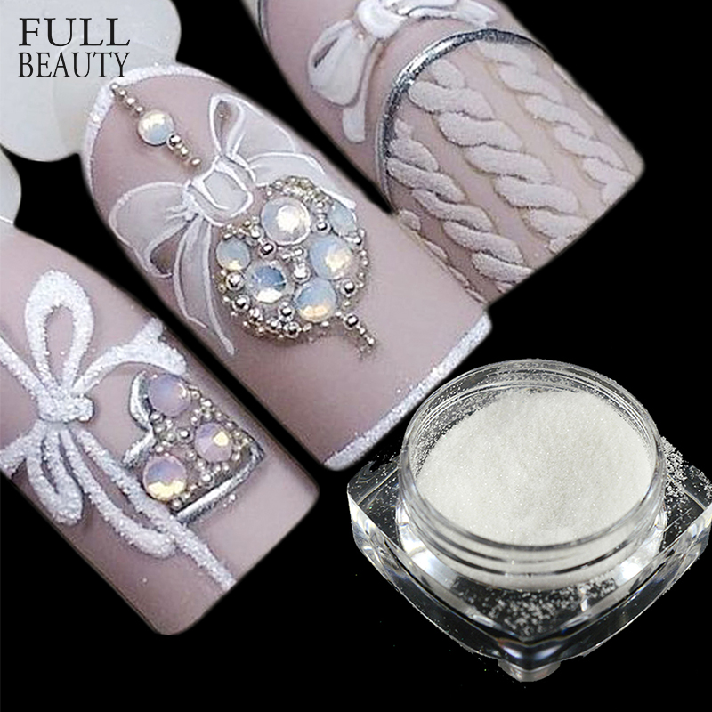 Full Beauty 1 Bottle Sugar Candy Coat Glitter Nail Pigment