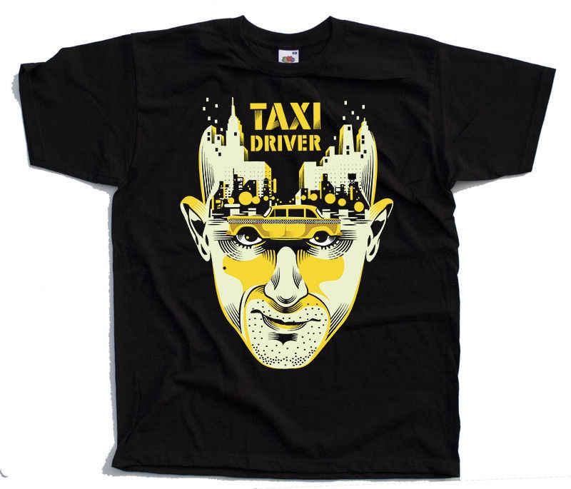Новинка 2019 3d такси водитель Робер де Ниро черная футболка мужские Забавные
