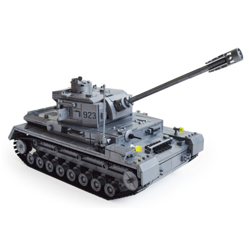 mylb Large Panzer IV Tank 1193pcs Building Blocks Military Army Constructor set Educational Toys for Children dropshipping 548pcs military ww2 german panzer iii tank ausfl primary battle tank model building block assembly toy for kid christmans gift