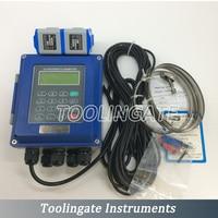 Ultrasonic Liquid Digital Flow Meter TUF 2000B TL 1 Transducer DN300 6000mm Flowmeters RS485 ModBus IP67 Protection