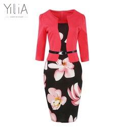 Yilia women one piece patchwork floral print elegant business party formal office plus size bodycon pencil.jpg 250x250