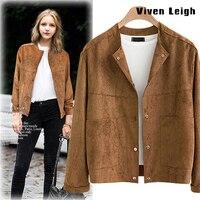 2016 Woman Velvet O Collar Short Jackets Solid Plus Size Women Winter Fashion Coat Ladies Button