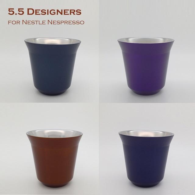 double wall espresso cups stylish 6pcs set 85ml double wall espresso cups stainless steel mugs nespresso coffee cup inox ice cream