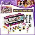 BELA 10407 Compatible Legoe Amigos Pop Star Tour Bus 41106 Ladrillos de Construcción Emma Mia Figura Juguetes Para Los Niños