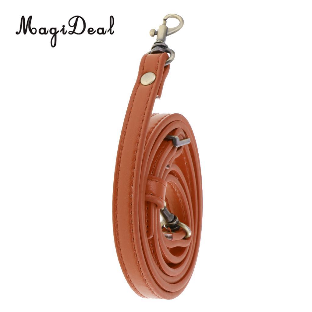MagiDeal Adjustable PU Leather Crossbody Shoulder Bag Strap Handle Replacement 1cm Wide