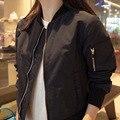 2016 Fashion Spring Autumn Black Bomber Jacket Women College Short Jackets Femme Causal Baseball Coat  1642