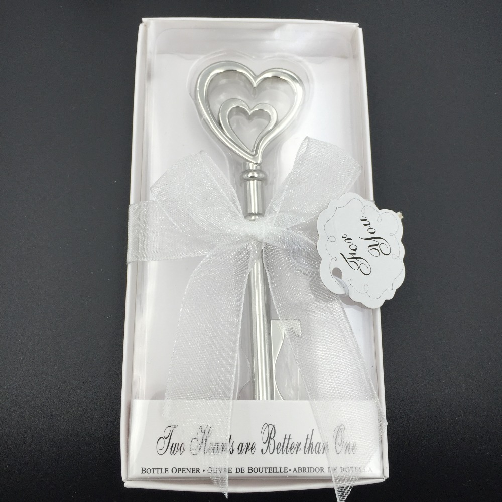 Double Heart Wine Bottle Opener 100pcs Wedding Favors and ...