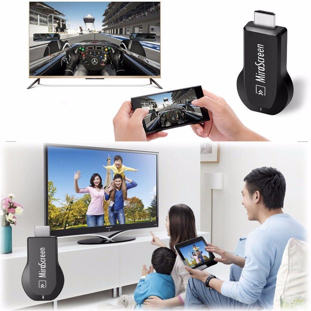 SOONHUA Mirascreen OTA TV Stick Smart TV Dongle HD 1080P WiFi Audio Video Display Receiver TV Dongle DLNA Airplay Miracast HDMI