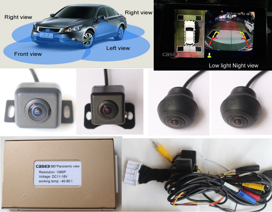 2d Car Blind Spot Shadow Area Detection System 360 Degree Camera
