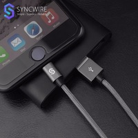 Syncwire Durable 2.4A Fast Charging Lightning To USB Cable 1m/2m Nylon Braided MFI Certificated USB Cord For iPhone 5S 6 7 plus