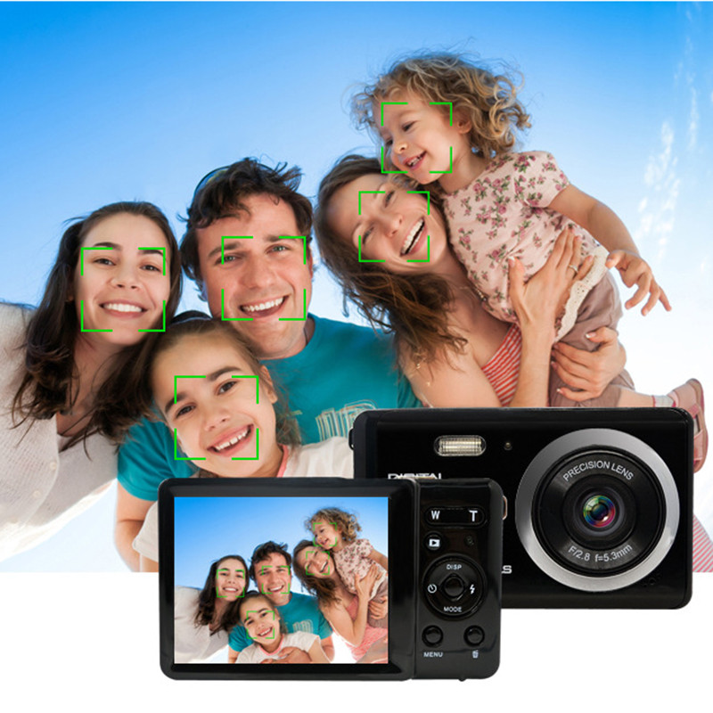New Ultrathin Digital Camera Camcorder Video HD1080P 4X Digital Zoom 16 Million Pixel support TF card For kid family travel gift hot sale easy use hd 720p 12m 8x digital zoom video camcorder camera gift for family happy recording 1pc
