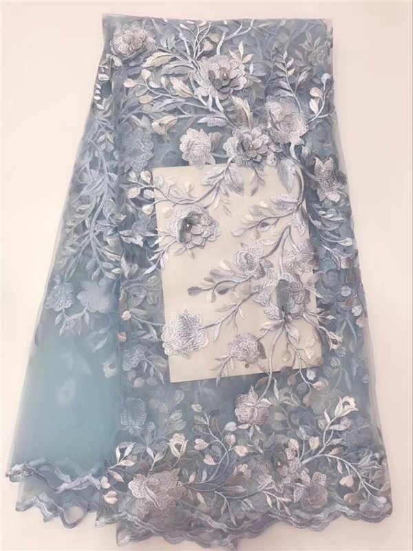 Африканская кружевная ткань US королевский синий АФРИКАНСКАЯ шаль французская 3d кружевная ткань со стразами 5 ярдов в партии свадебное платье кружево золото