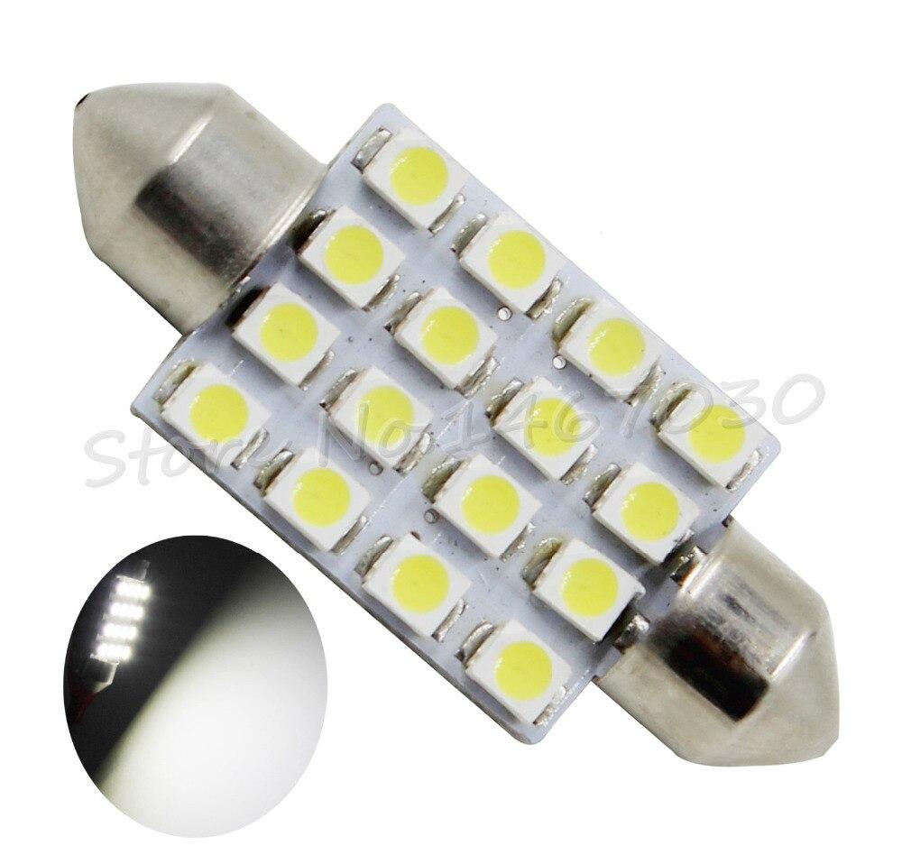20X 39mm Dome <font><b>16</b></font> LED 3528 SMD Car Festoon Interior Bulb <font><b>Light</b></font> Lamp <font><b>Cool</b></font> <font><b>White</b></font> Auto Roof <font><b>Light</b></font> Source