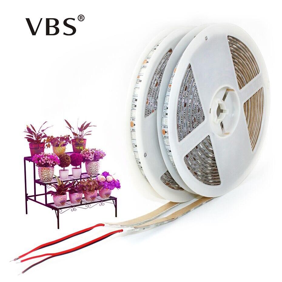 Coltiva la Luce di Striscia DC12V spettro Completo fitolampy 300 Led 5050 di Chip Pianta acquario di illuminazione del nastro led per la Serra Idroponica
