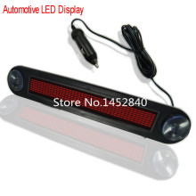 12V Car Auto Red LED Programmable Message Sign Scrolling Moving Display Board with remote