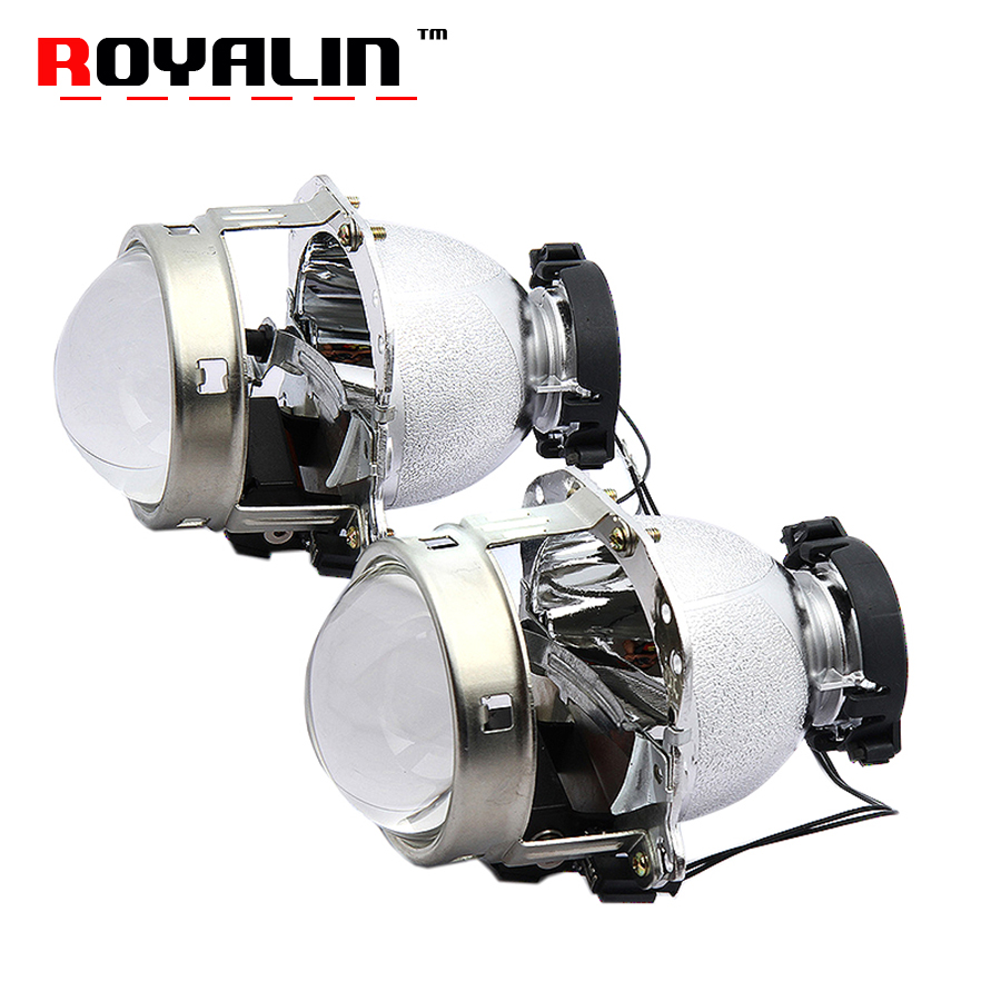ROYALIN For Hella EVOX 2.0 D2S Projector Headlight Bi Xenon Lens for BMW E39 E60 Ford Audi A6 C5 C6 W211 Passat B6 Skoda Fabia radiator cooling fan relay control module for audi a6 c6 s6 4f0959501g 4f0959501c