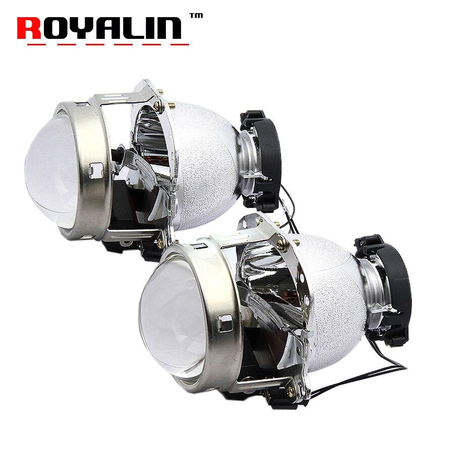ROYALIN Pour Hella EVOX 2.0 D2S Projecteur Phare Bi Xenon Objectif pour BMW E39 E60 Ford Audi A6 C5 C6 w211 Passat B6 Skoda Fabia
